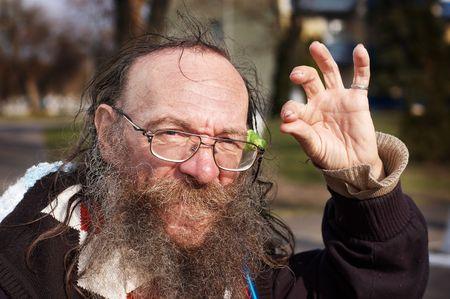 mendicant: Homeless senior say All right