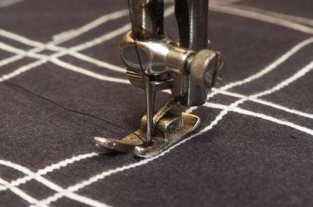stitching machine: Old stitching machine stitch checked material
