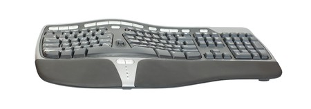 maintainability: Ergonomic keyboard isolated on white