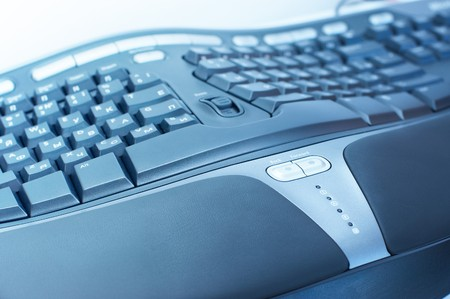 maintainability: Ergonomic keyboard Stock Photo
