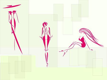 City woman sketch Vector