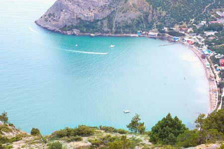 Beautiful view on bay with beach in Crimea, Novyi Svet. Stock Photo - 7354345