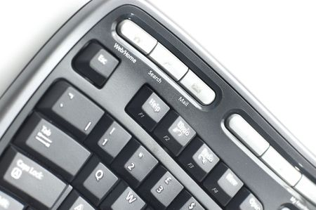maintainability: Ergonomic keyboard  on white