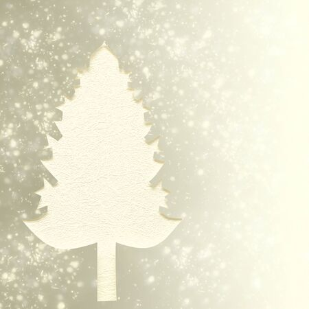 Handmade Christmas tree cut out from paper.  photo