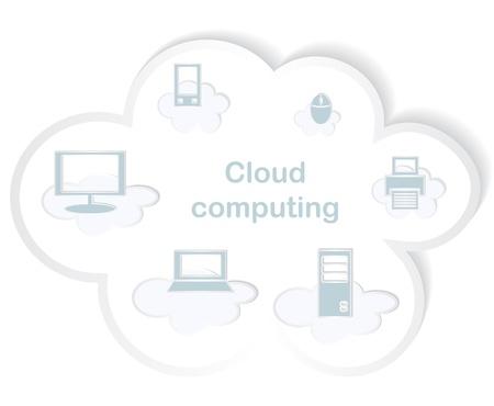 Cloud computing concept. Vector