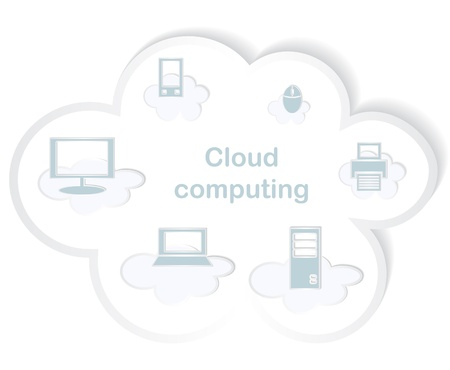 virtual server: Cloud computing concept.