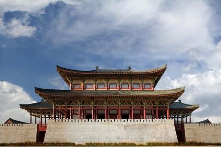 ethnographic: Ethnographic park, North Korea, Pyongyang Editorial