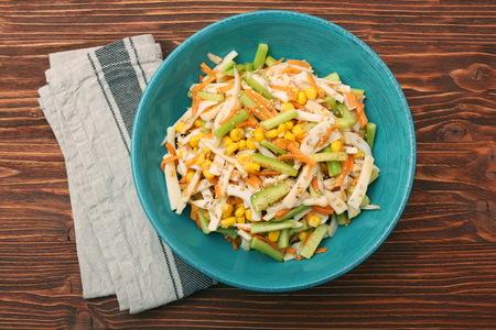 Calamari salad with carrot and cucumber Stock Photo