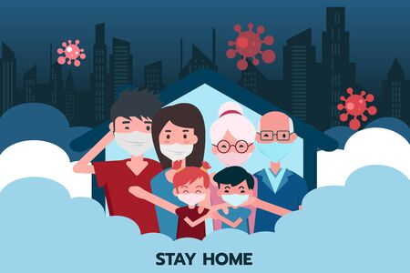 Everyone in the family decides to confine the house to the 6 people while the virus is spreading in the city.
