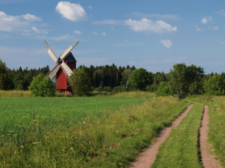 A windmill in the field Stock Photo - 15906586