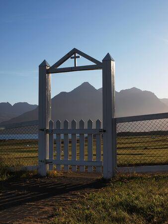 wicket gate: Church gate Stock Photo