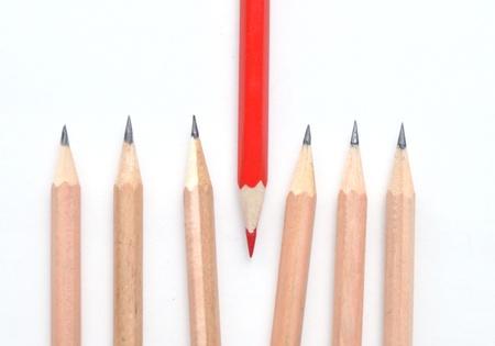 간단한 것들에 대해 빨간색 연필