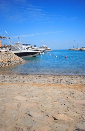 Luxury yachts at El Gouna, Egypt, on the Red Sea Stock Photo - 10615486