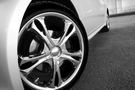 rims: Detail of a beauty and fast sport car