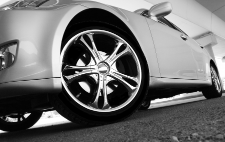 Detail of a beauty and fast sport car