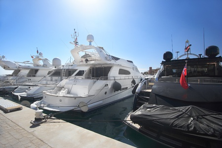 Luxury yachts at El Gouna, Egypt, on the Red Sea. Stock Photo - 10640146