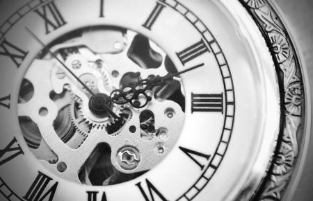 古い時計のマシン