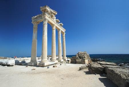 De tempel van Apollo in Side, Turkije Stockfoto