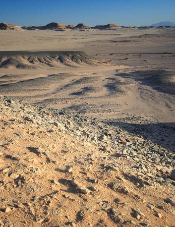 The utterly barren western desert of Egypt.