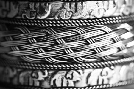 beautiful textured iron shining pattern photo