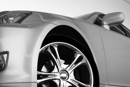 silver sports car: Detail of a beauty and fast sport car