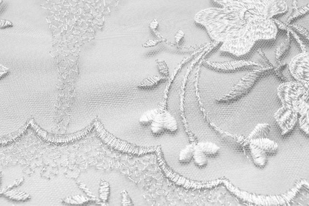 dress up: Detail of wedding dress Stock Photo