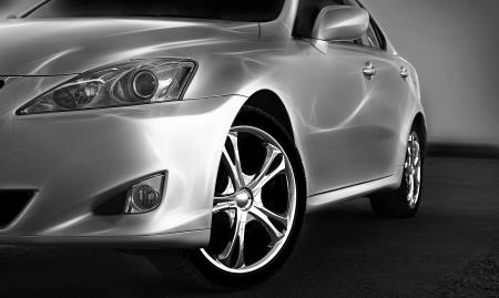 shiny car: Detail van een schoonheid en snelle sportwagen