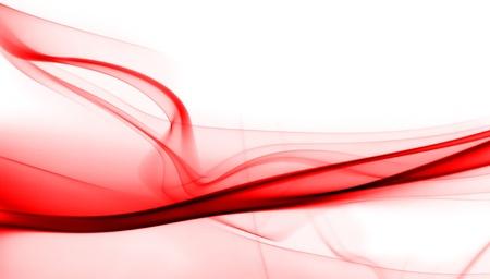 白い背景の赤い煙