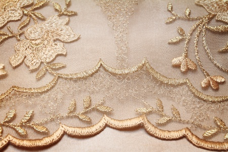 Golden textile wedding background photo