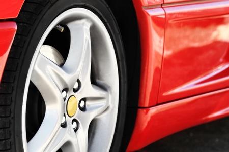 Detail van een schoonheid en snelle sportcar