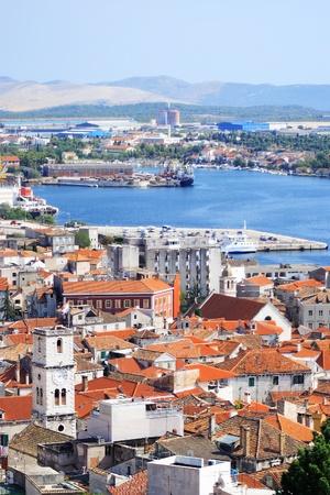 briny: Mediterranean city by the sea (Croatia-Trogir) Stock Photo