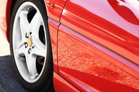 shiny car: Detail van een schoonheid en snelle sportcar
