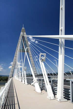 megyeri: Detail of bridge (Hungary) Stock Photo