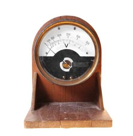 electricity meter: old and obsolete electricity meter Stock Photo