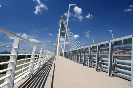 The Megyeri bridge  Hungary  photo