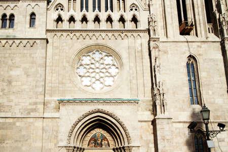 Matthias Church Budapest Hungary- detail photo