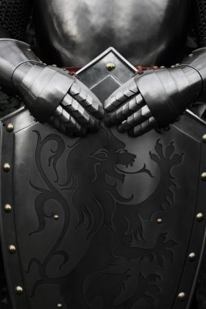 castello medievale: Armour del cavaliere medievale Archivio Fotografico