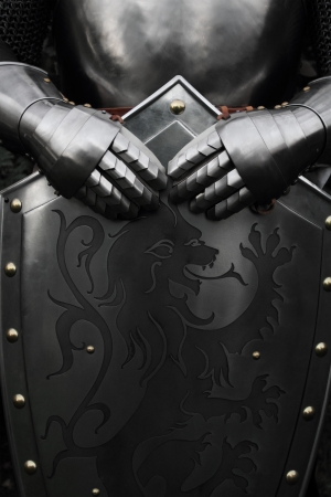 battle: Armour of the medieval knight
