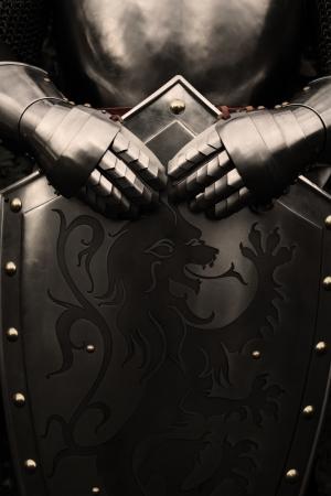Pantser van de middeleeuwse ridder Stockfoto