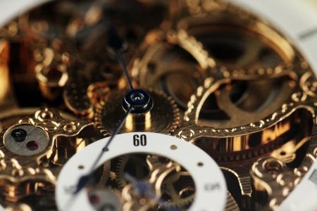 old watch: Old watch machine  close up