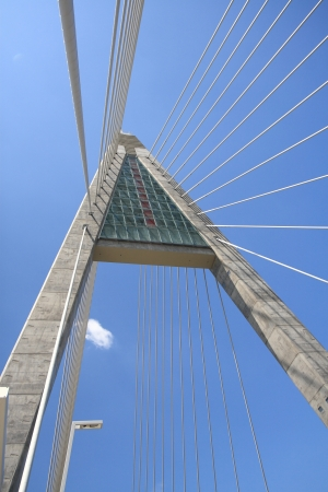 megyeri: The Megyeri bridge detail - Hungary
