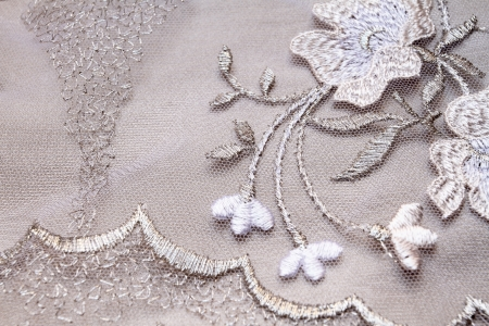 Silver textile wedding background photo