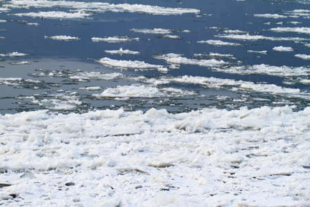frozen river: Frozen river in winter  background