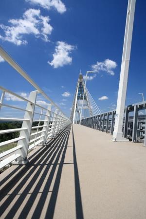 Detail of bridge  Hungary  photo