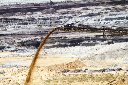 Coal mining in an open pit Stock Photo - 17511887
