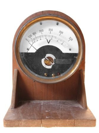 ammeter: Old and obsolete electricity meter
