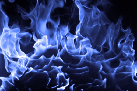 blue flames: Blue fire on black background