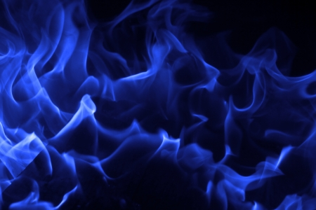 Blue fire on black background Stock Photo - 18386627