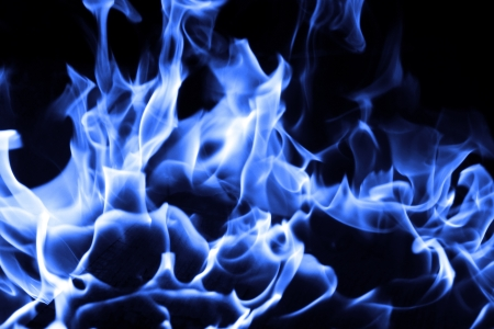 blue flame: Blue fire on black background