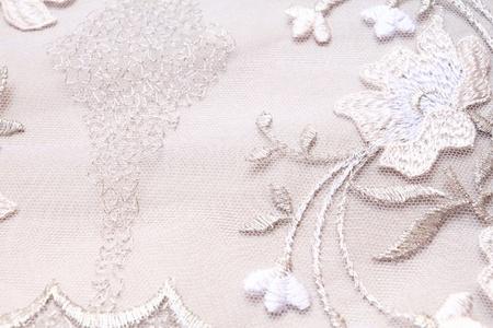 Silver textile wedding background photo